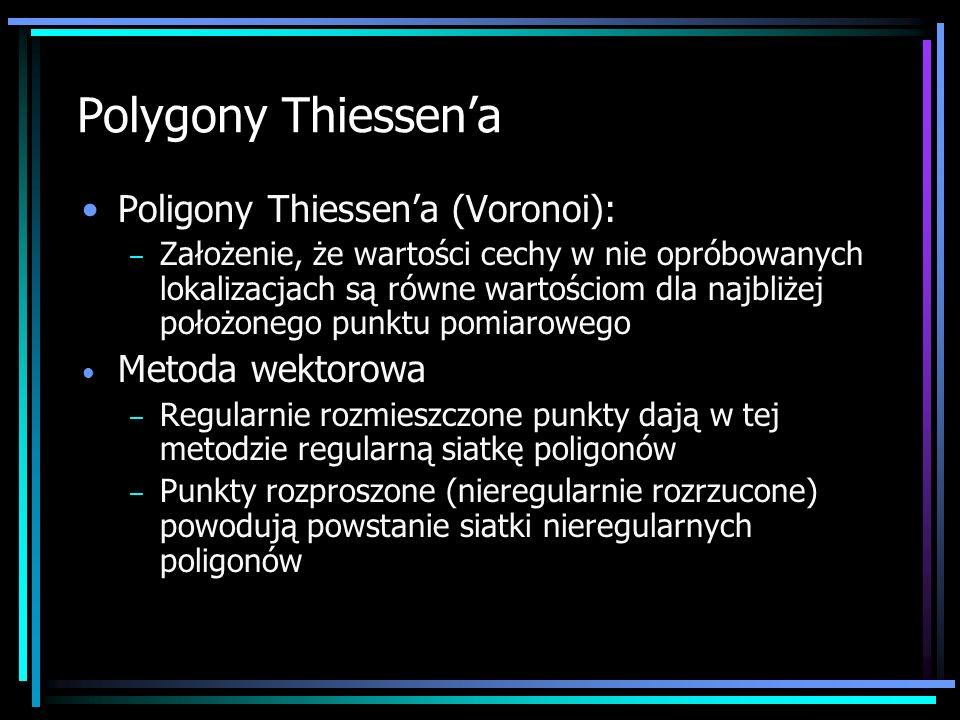 Polygony Thiessen'a Poligony Thiessen'a (Voronoi): Metoda wektorowa