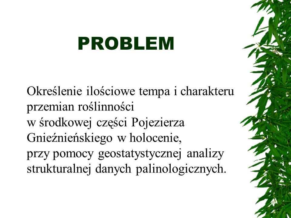 PROBLEM Określenie ilościowe tempa i charakteru przemian roślinności