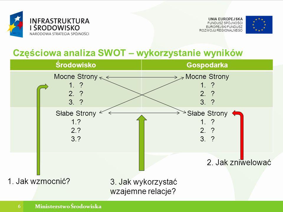 Częściowa analiza SWOT – wykorzystanie wyników