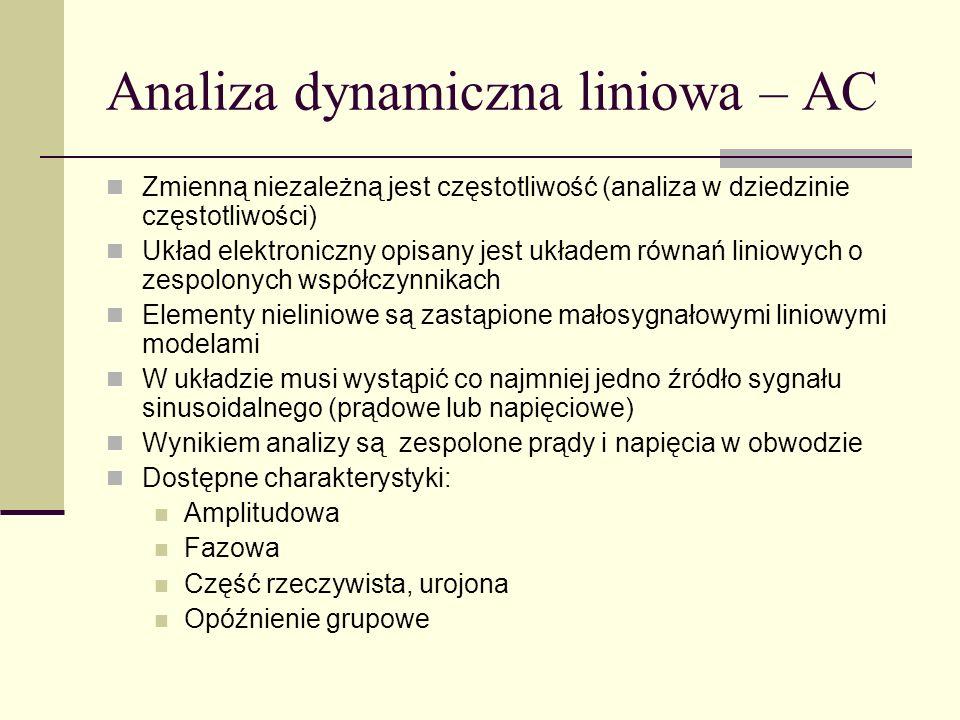 Analiza dynamiczna liniowa – AC