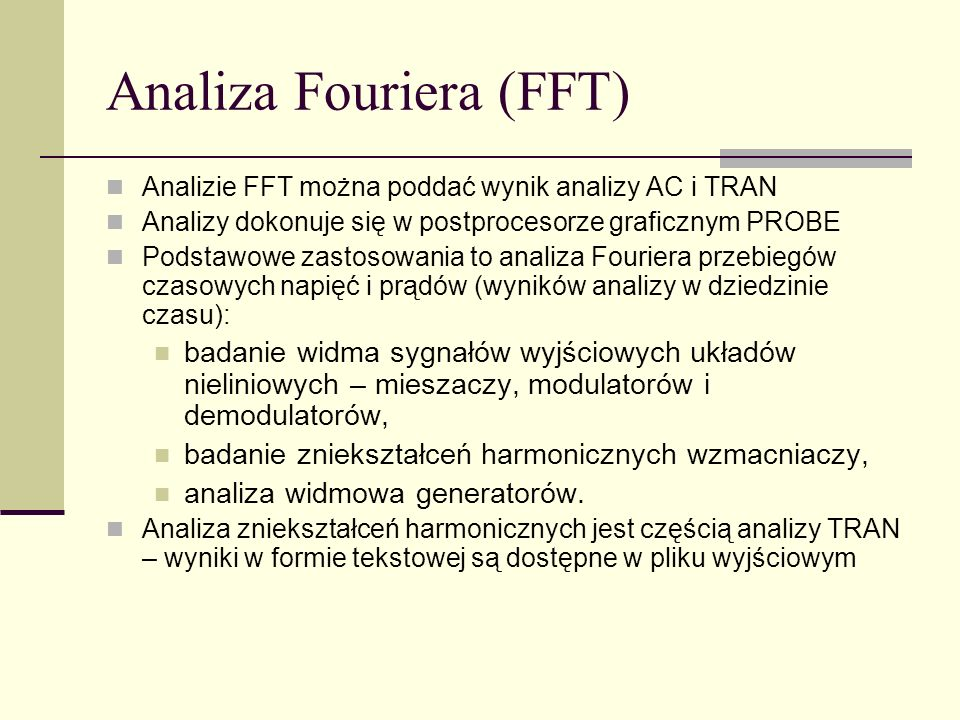 Analiza Fouriera (FFT)