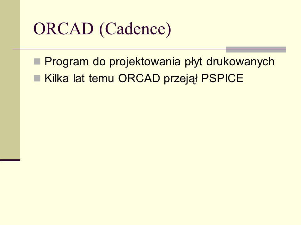 ORCAD (Cadence) Program do projektowania płyt drukowanych