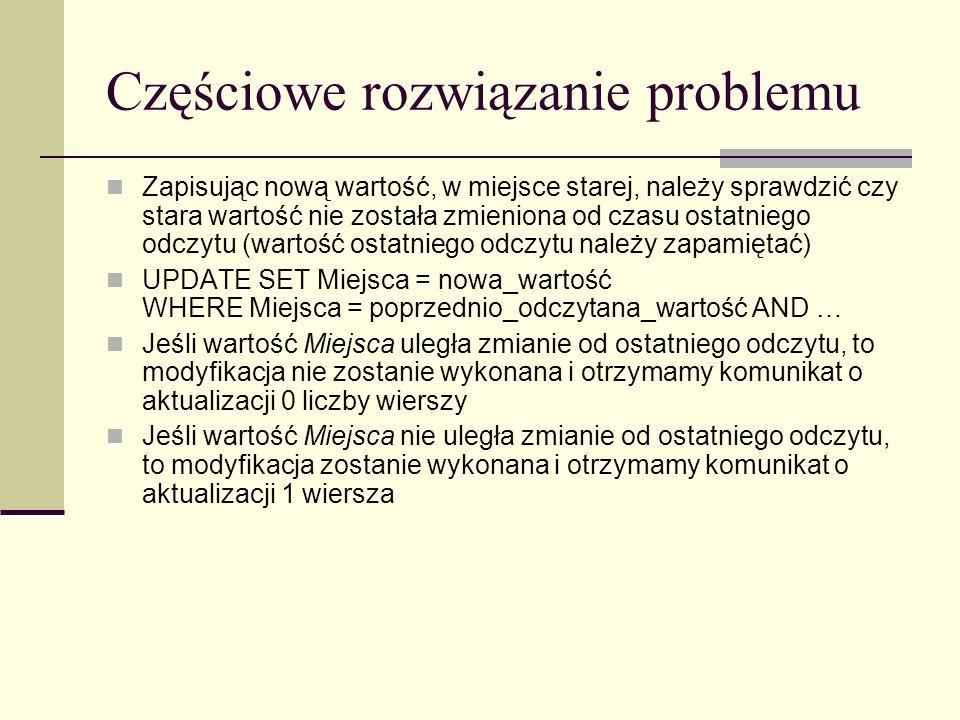 Częściowe rozwiązanie problemu
