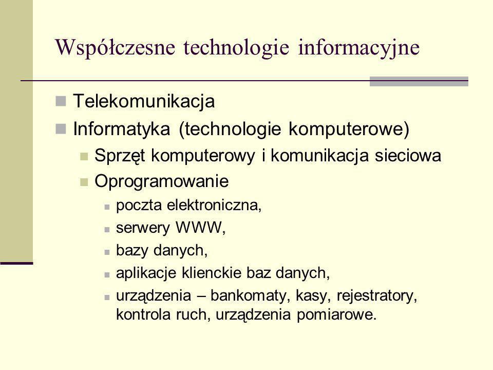 Współczesne technologie informacyjne