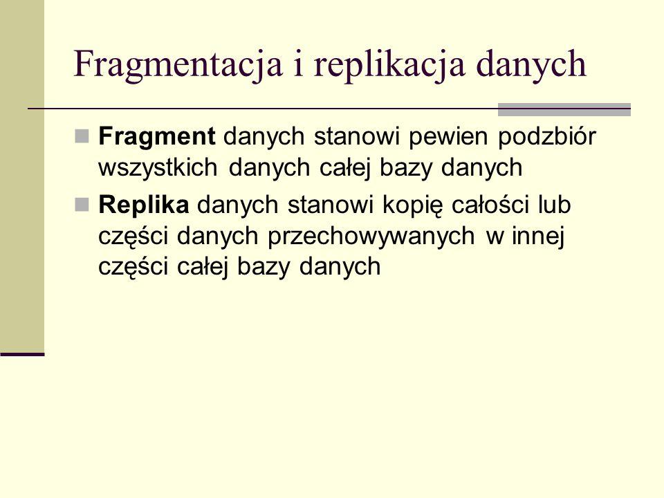 Fragmentacja i replikacja danych