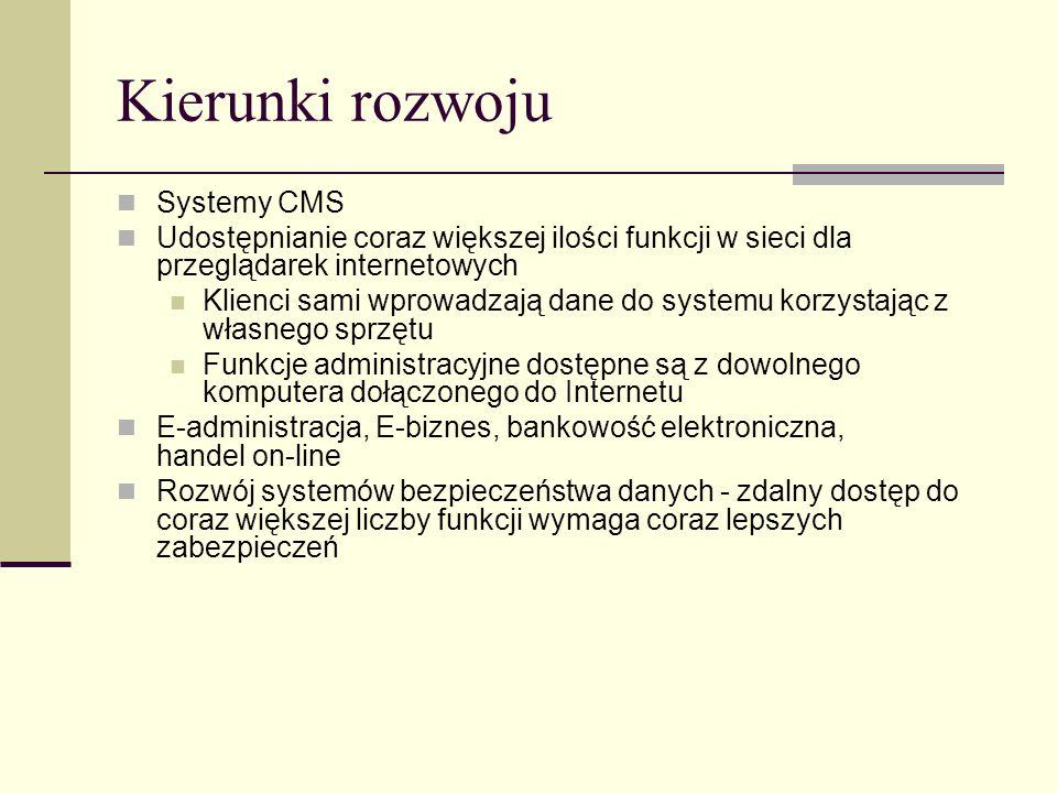 Kierunki rozwoju Systemy CMS