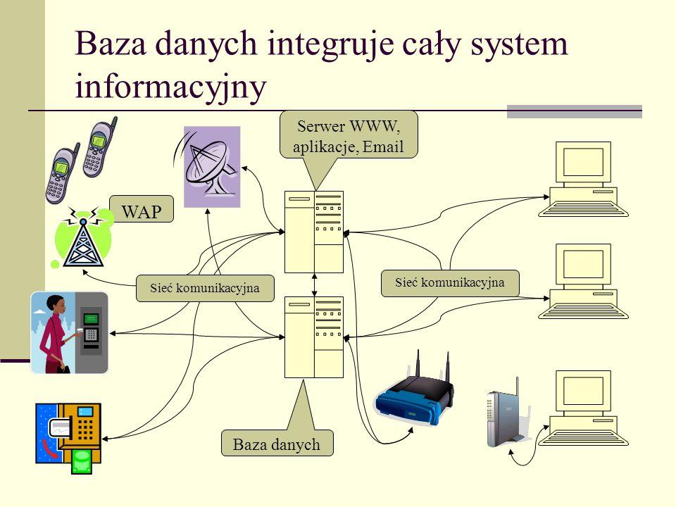 Baza danych integruje cały system informacyjny