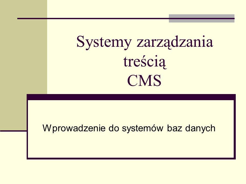 Systemy zarządzania treścią CMS
