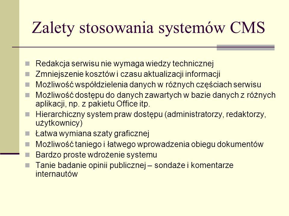 Zalety stosowania systemów CMS
