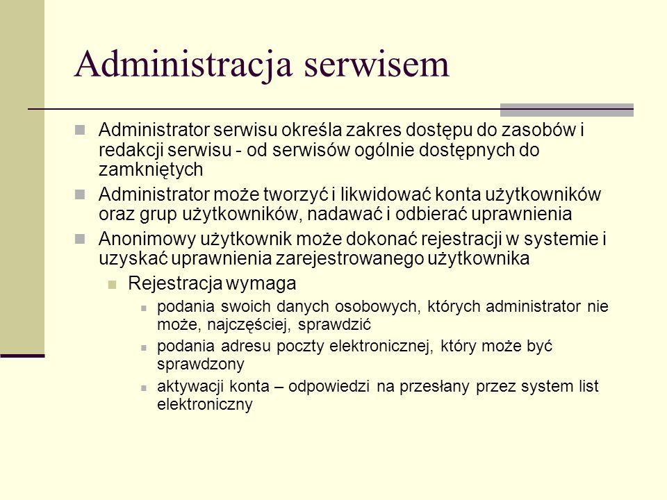 Administracja serwisem