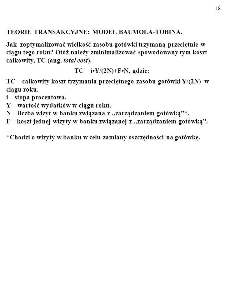 TC = i•Y/(2N)+F•N, gdzie: