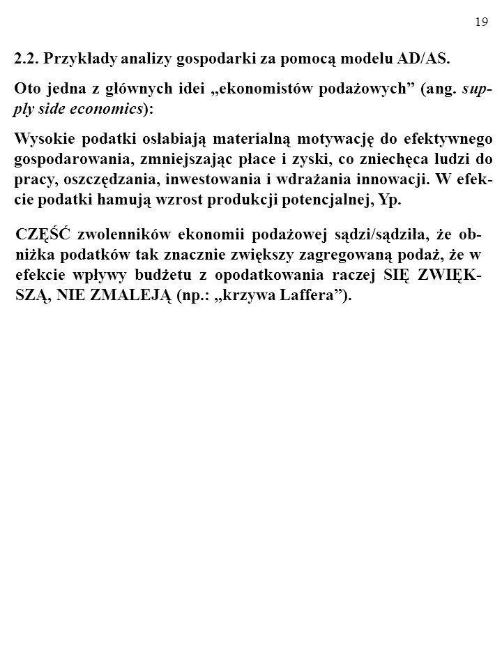 2.2. Przykłady analizy gospodarki za pomocą modelu AD/AS.