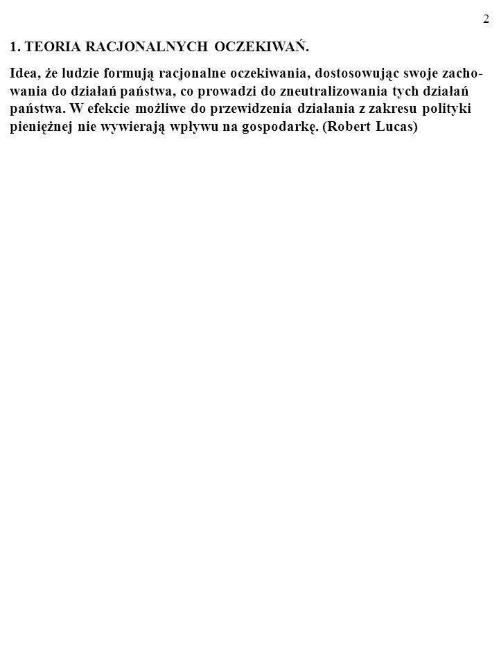 1. TEORIA RACJONALNYCH OCZEKIWAŃ.