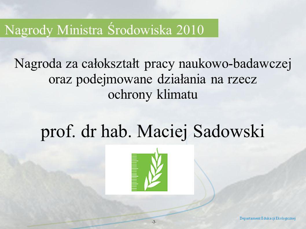 prof. dr hab. Maciej Sadowski