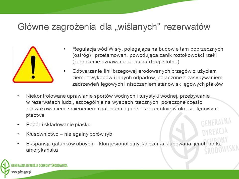 """Główne zagrożenia dla """"wiślanych rezerwatów"""