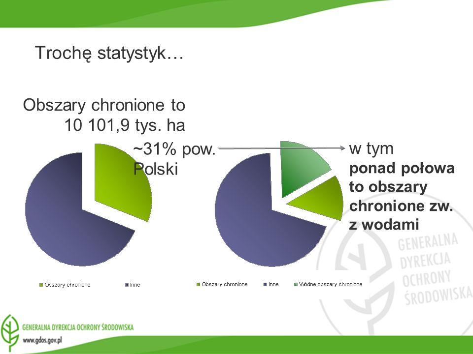 Trochę statystyk… Obszary chronione to 10 101,9 tys. ha