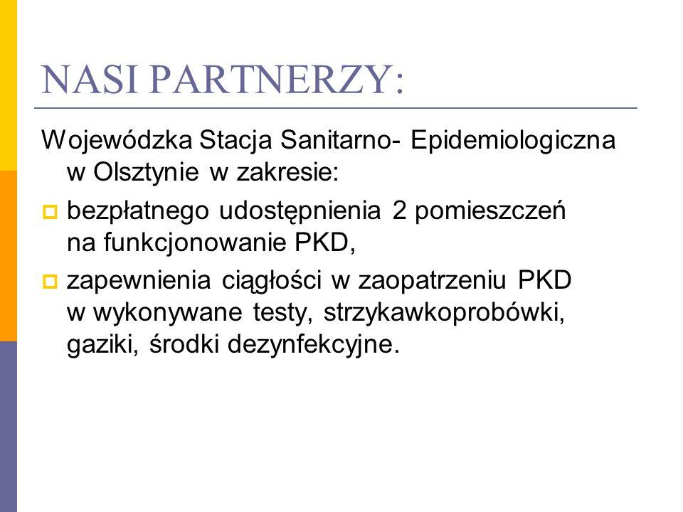 NASI PARTNERZY: Wojewódzka Stacja Sanitarno- Epidemiologiczna w Olsztynie w zakresie: