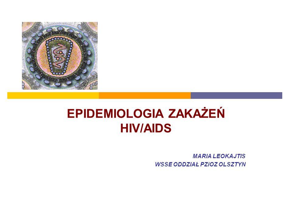 EPIDEMIOLOGIA ZAKAŻEŃ HIV/AIDS