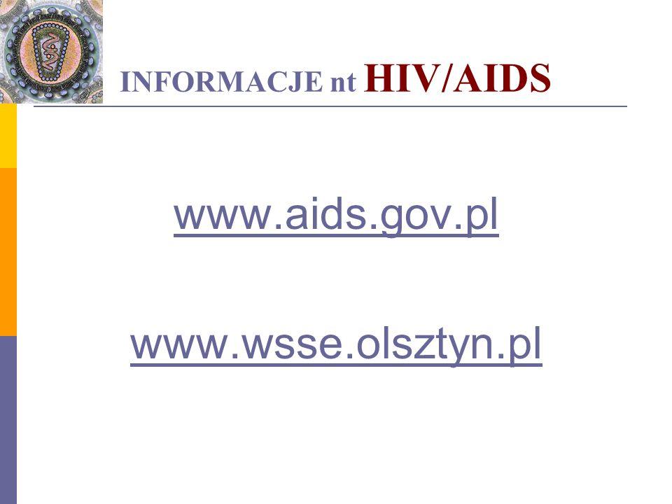 INFORMACJE nt HIV/AIDS