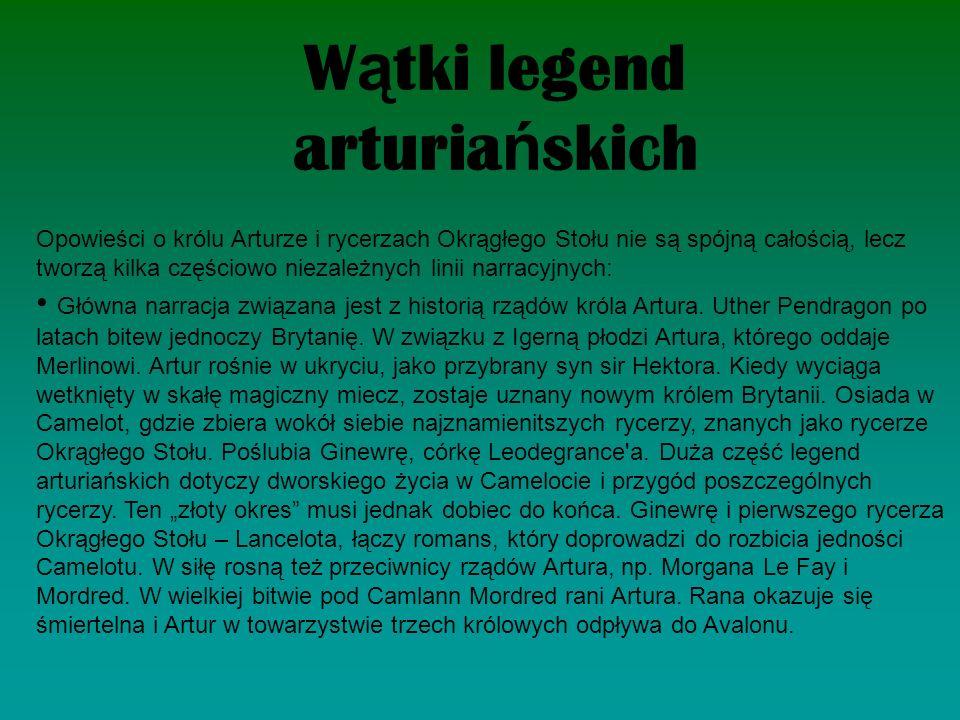 Wątki legend arturiańskich