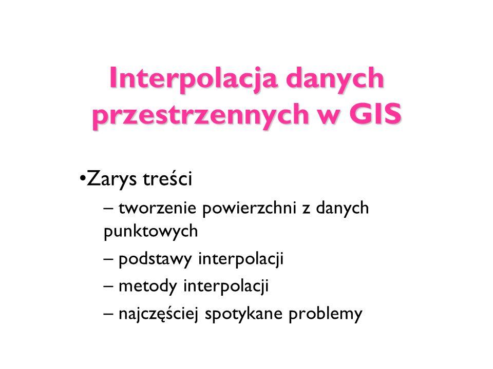 Interpolacja danych przestrzennych w GIS