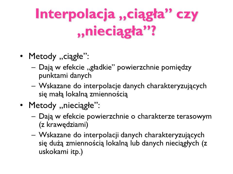 """Interpolacja """"ciągła czy """"nieciągła"""