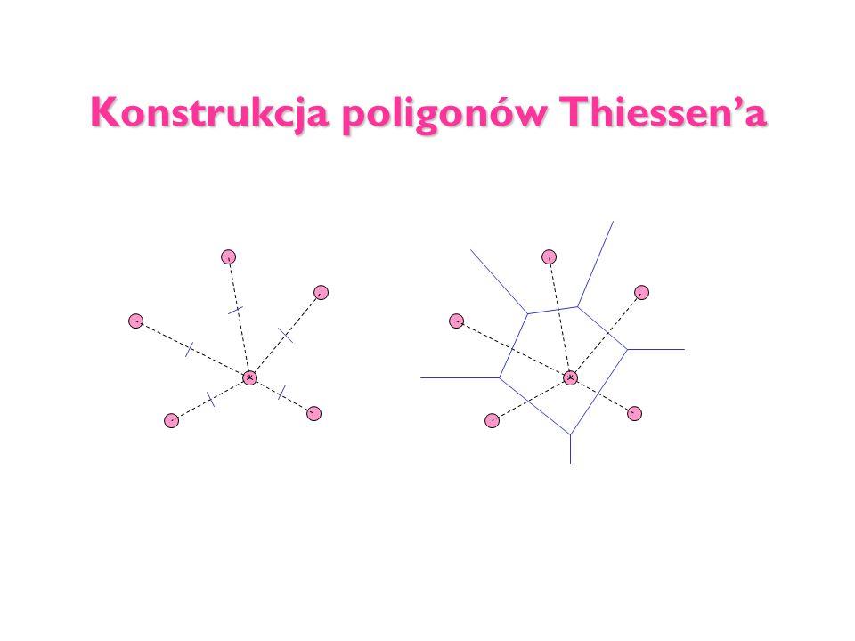 Konstrukcja poligonów Thiessen'a