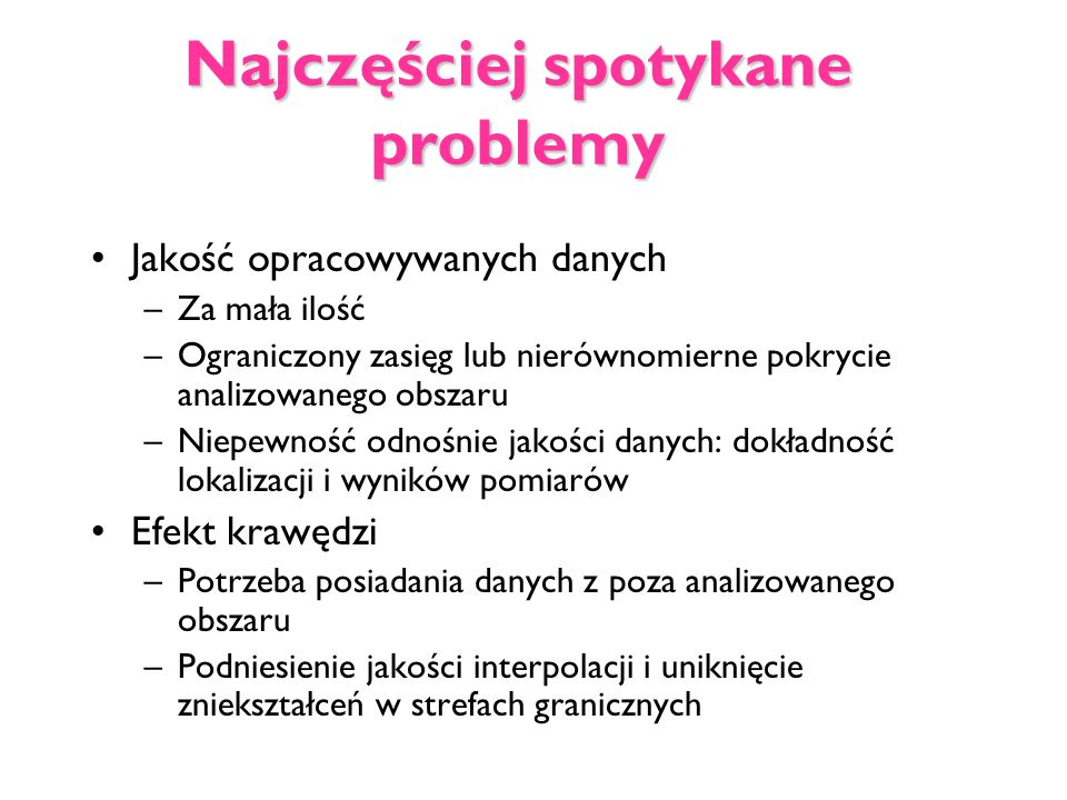 Najczęściej spotykane problemy
