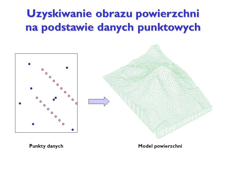 Uzyskiwanie obrazu powierzchni na podstawie danych punktowych