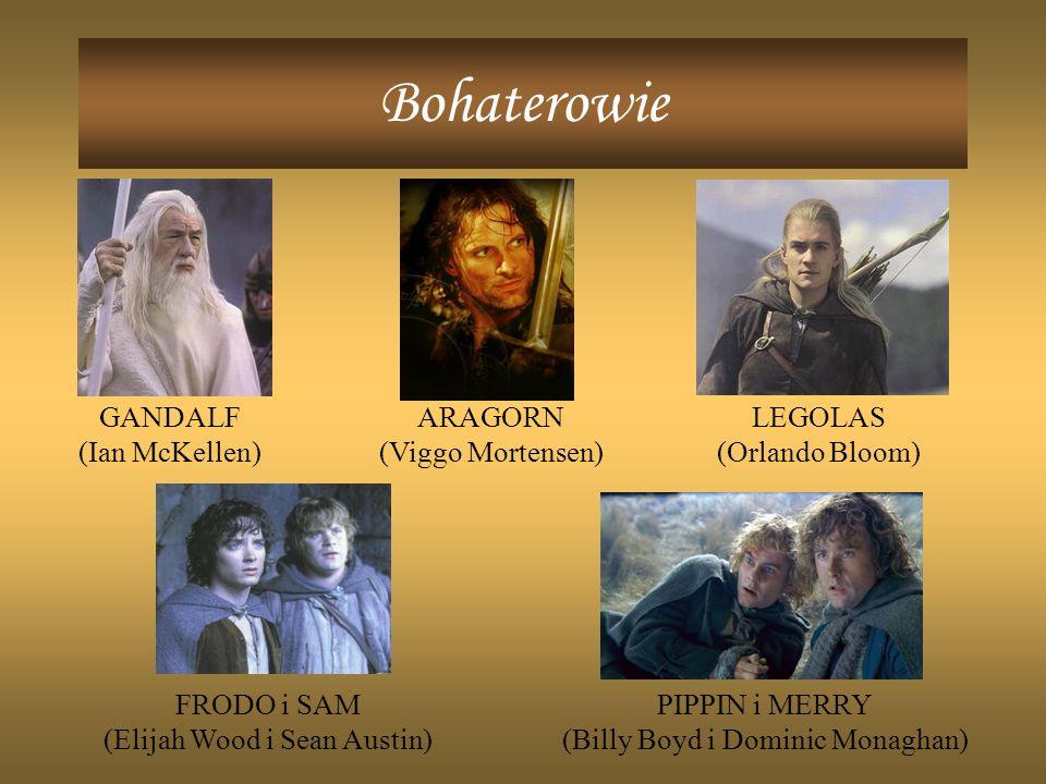 Bohaterowie GANDALF (Ian McKellen) ARAGORN (Viggo Mortensen) LEGOLAS
