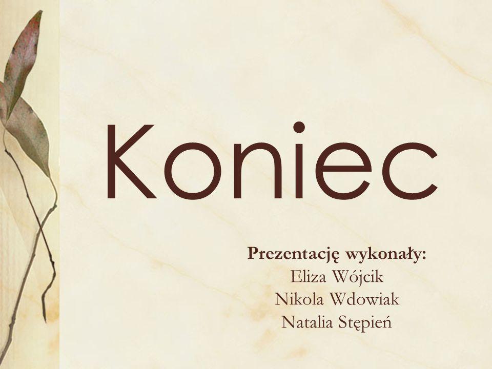 Prezentację wykonały: Eliza Wójcik Nikola Wdowiak Natalia Stępień