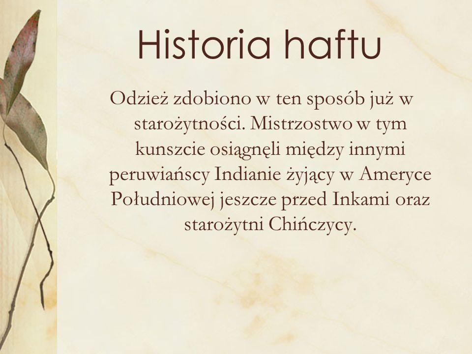 Historia haftu