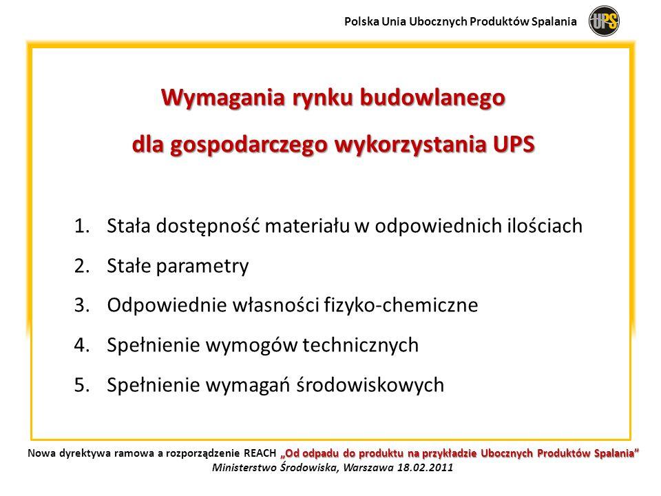 Wymagania rynku budowlanego dla gospodarczego wykorzystania UPS