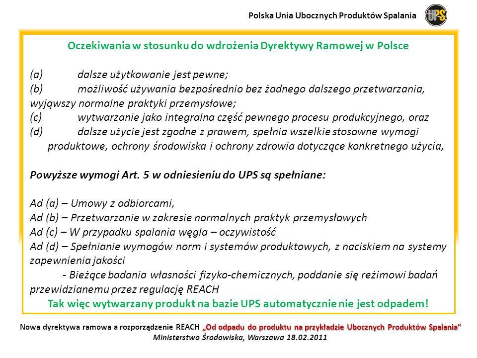 Oczekiwania w stosunku do wdrożenia Dyrektywy Ramowej w Polsce