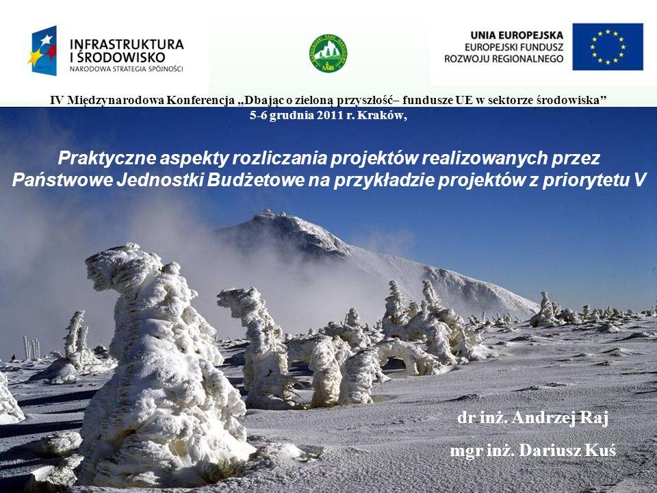 """IV Międzynarodowa Konferencja """"Dbając o zieloną przyszłość– fundusze UE w sektorze środowiska 5-6 grudnia 2011 r. Kraków,"""
