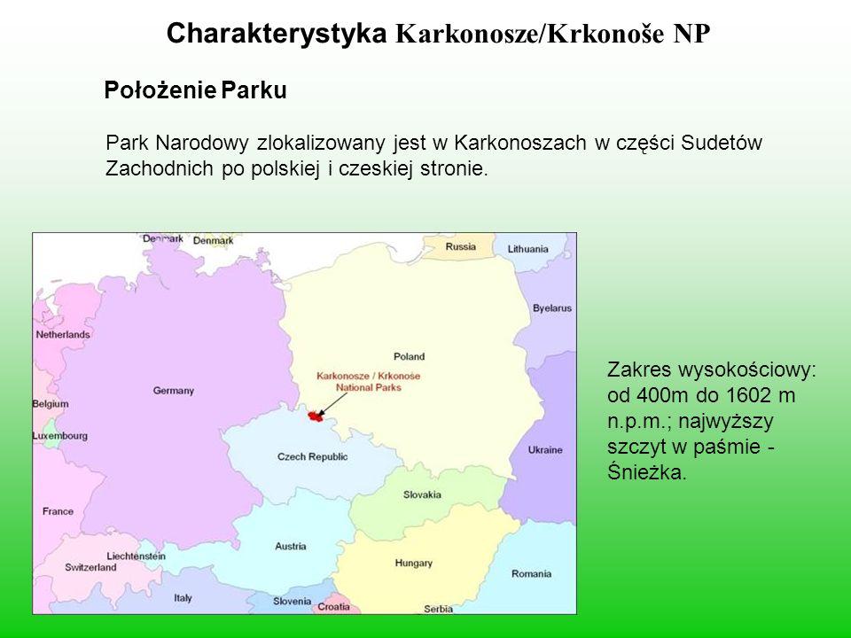 Charakterystyka Karkonosze/Krkonoše NP