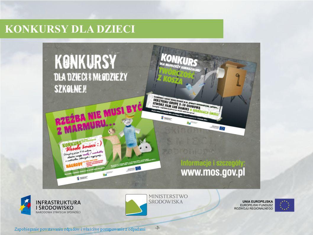 KONKURSY DLA DZIECI Zapobieganie powstawaniu odpadów i właściwe postępowanie z odpadami -3- 10