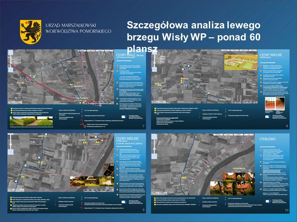 Szczegółowa analiza lewego brzegu Wisły WP – ponad 60 plansz