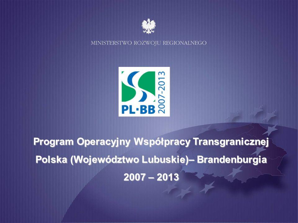 Program Operacyjny Współpracy Transgranicznej Polska (Województwo Lubuskie)– Brandenburgia
