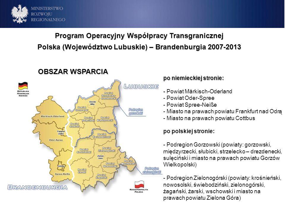 Program Operacyjny Współpracy Transgranicznej Polska (Województwo Lubuskie) – Brandenburgia 2007-2013