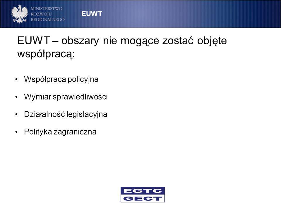 EUWT – obszary nie mogące zostać objęte współpracą: