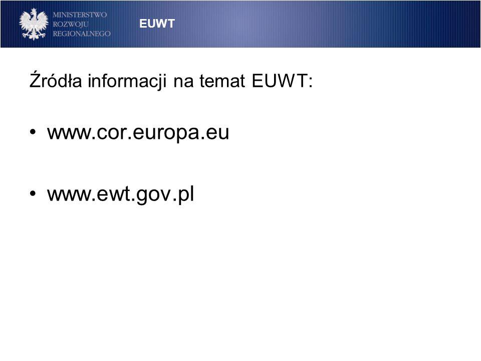 Źródła informacji na temat EUWT:
