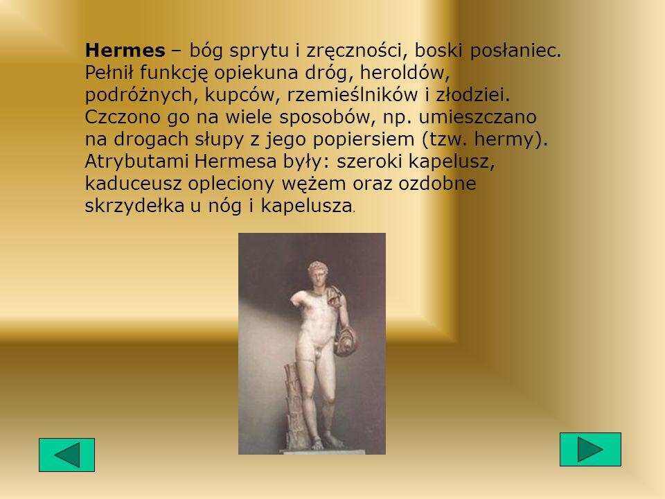Hermes – bóg sprytu i zręczności, boski posłaniec