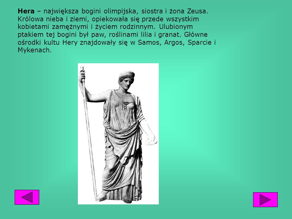 Hera – największa bogini olimpijska, siostra i żona Zeusa