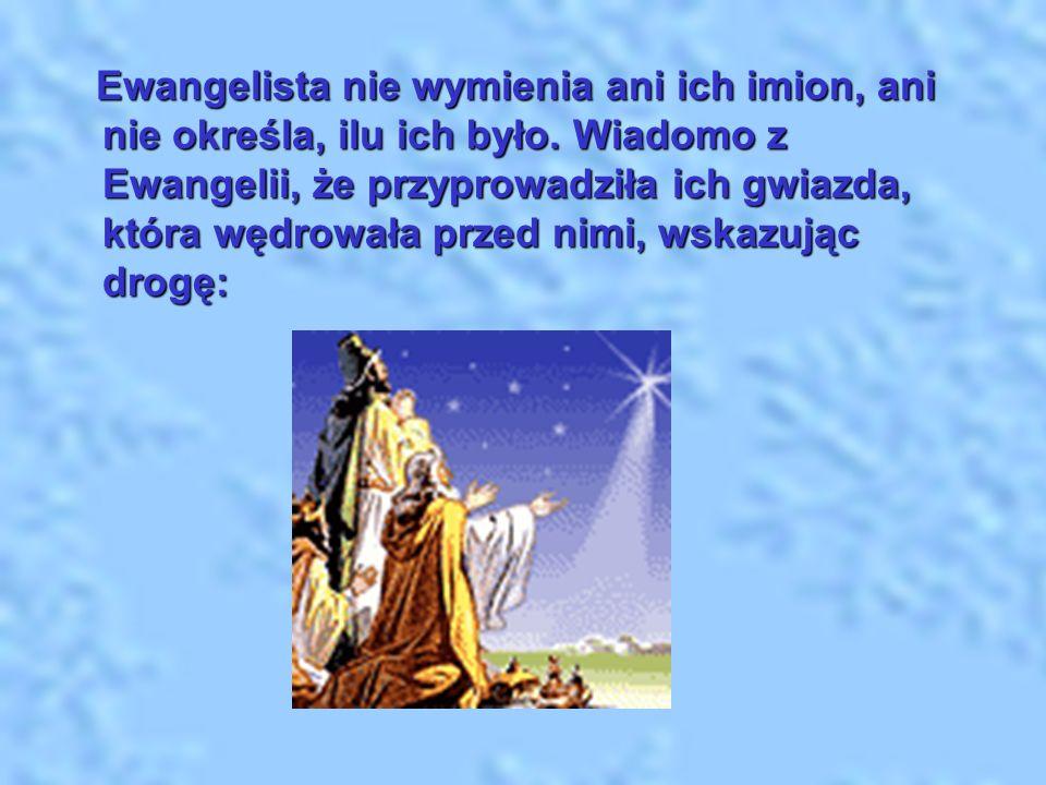 Ewangelista nie wymienia ani ich imion, ani nie określa, ilu ich było