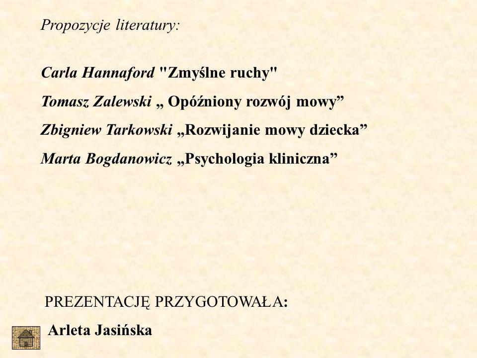 Propozycje literatury: