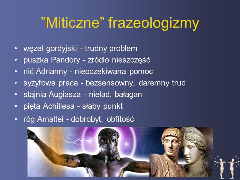 Miticzne frazeologizmy