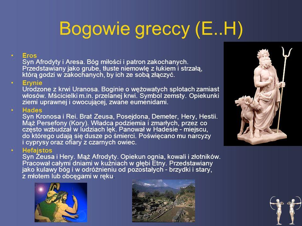Bogowie greccy (E..H)