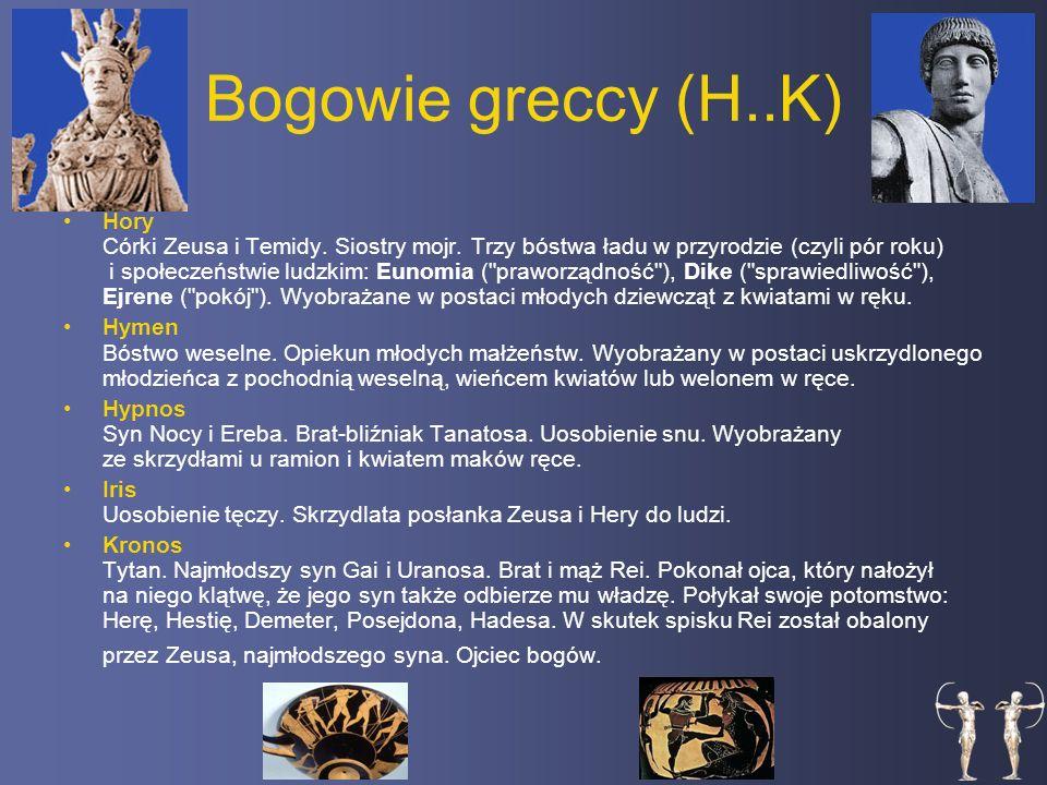 Bogowie greccy (H..K)