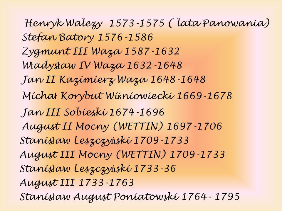 Henryk Walezy 1573-1575 ( lata Panowania)